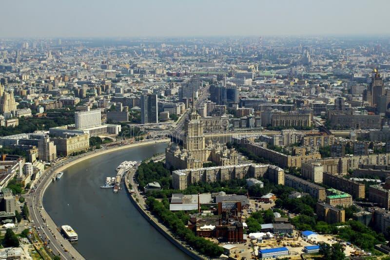 Luchtmening aan Moskou, Rusland stock foto's