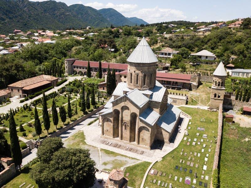 Luchtmening aan Samtavro-Klooster in Mtskheta, Georgi? stock afbeeldingen
