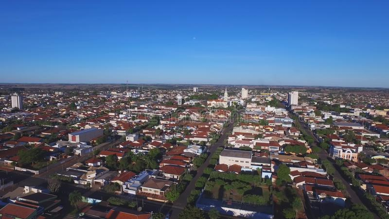 Luchtmening in Araraquara-stad, staat Sao Paulo - Brazilië stock footage