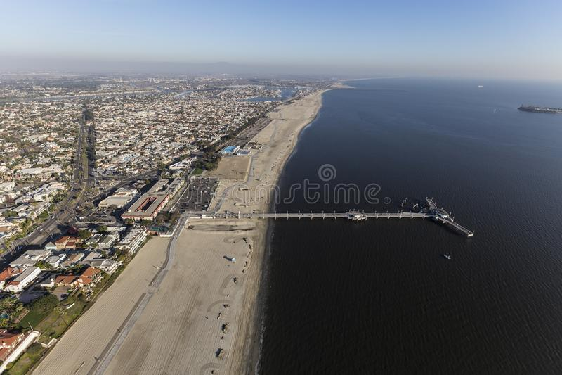 Download Luchtmening Belmont Pier Long Beach California Stock Foto - Afbeelding bestaande uit park, reis: 107704154