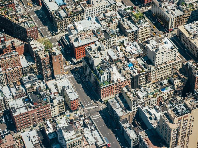 Luchtmening bij de stad in royalty-vrije stock foto