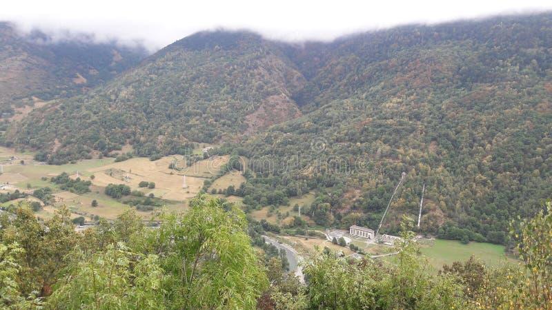 Luchtmening dichtbij van Bosost Aran Valley, Lleida, Catalonië, Spanje royalty-vrije stock fotografie