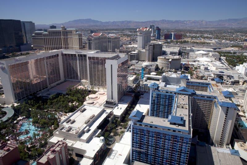 Luchtmening die de Strook van Las Vegas in Nevada overzien stock fotografie
