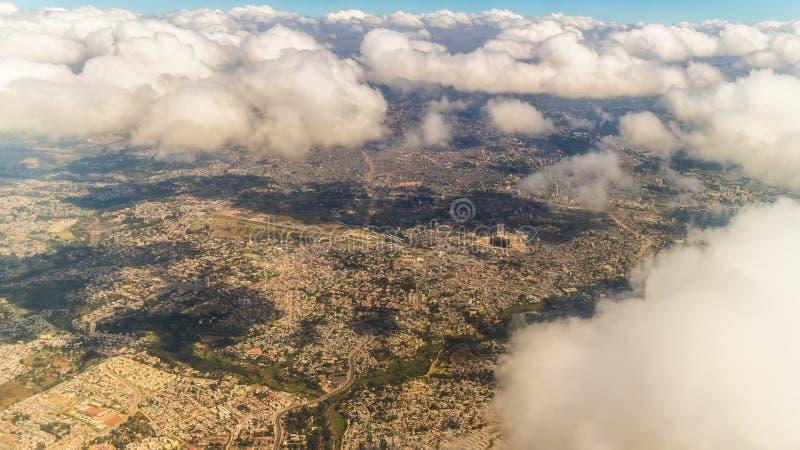 Luchtmening van Addis Ababa royalty-vrije stock afbeeldingen