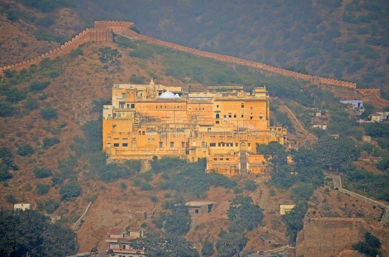 Luchtmening van Amber Fort, Jaipur, India stock afbeelding