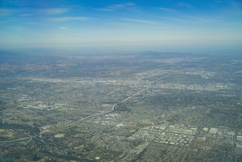 Luchtmening van Brea, Fullerton royalty-vrije stock afbeeldingen