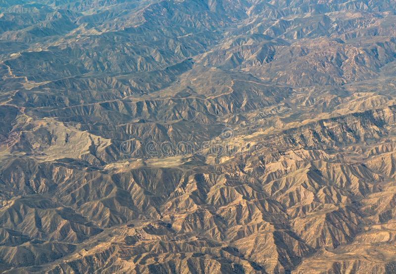 Luchtmening van Californië San Andreas royalty-vrije stock foto's