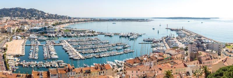 Luchtmening van Cannes Frankrijk royalty-vrije stock afbeelding