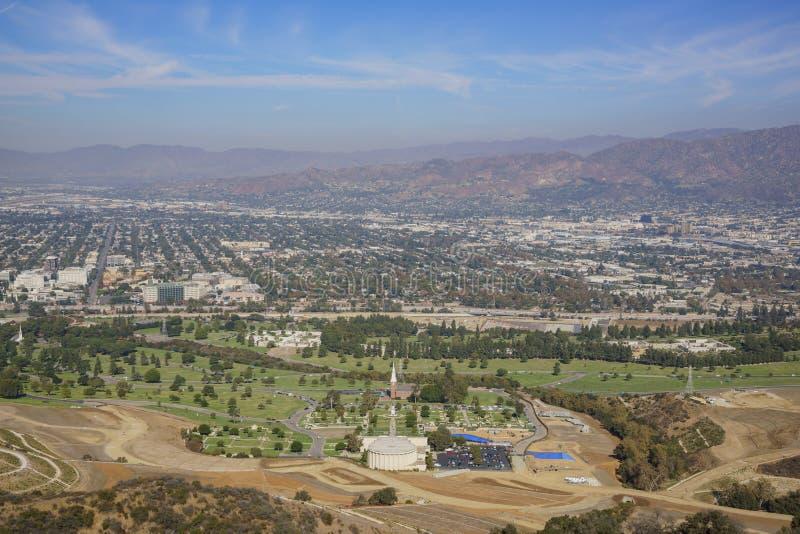Luchtmening van cityscape van Burbank royalty-vrije stock fotografie