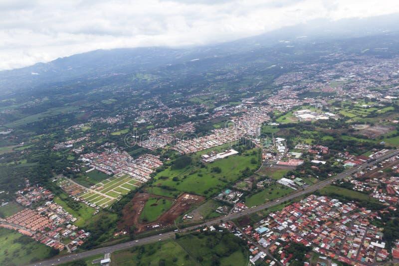 Luchtmening van Costa Rica stock afbeeldingen