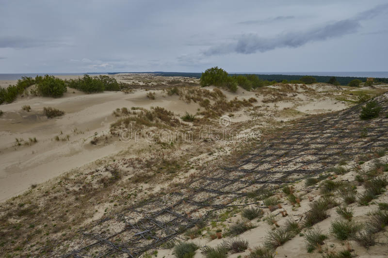Luchtmening van Curonian-Spit stock foto's