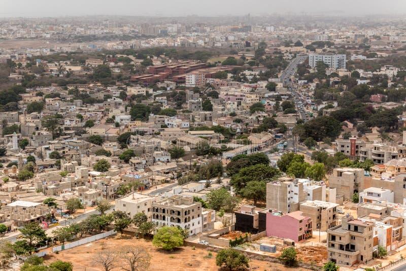 Luchtmening van Dakar stock fotografie