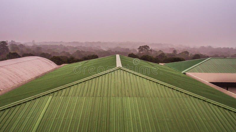 Luchtmening van dakbovenkant stock foto