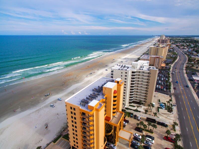 Luchtmening van Daytona Beach royalty-vrije stock afbeelding