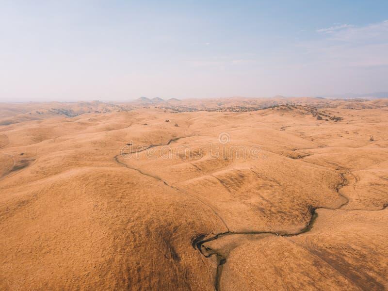 Luchtmening van de Doodsvallei in de V.S. stock afbeeldingen
