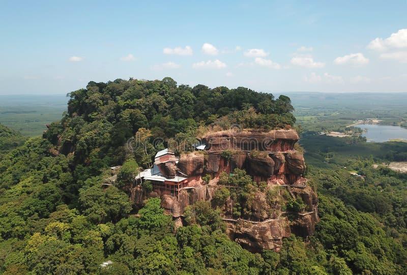 Luchtmening van de heuvel van Phu Thok in noordoostelijk, Thailand stock afbeelding