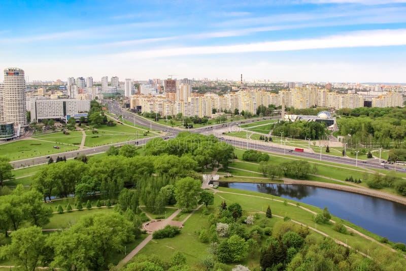 Luchtmening van de kruising van prospectussen van Winnaars en Masherova, Stella, Park royalty-vrije stock afbeeldingen