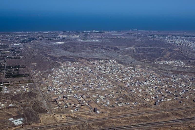 Luchtmening van de muscateldruif de Arabische stad landcape stock fotografie