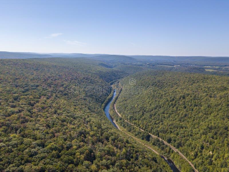 Luchtmening van de rivier royalty-vrije stock afbeeldingen