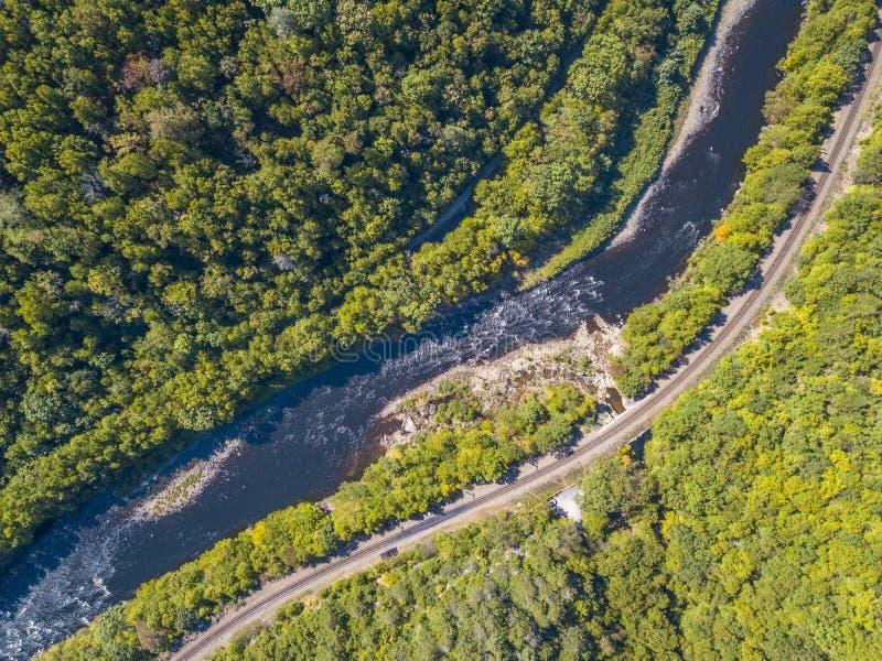 Luchtmening van de rivier stock foto's