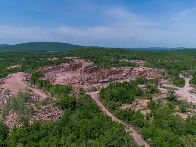Luchtmening van de Rode mijn van de Granietstrook royalty-vrije stock afbeelding