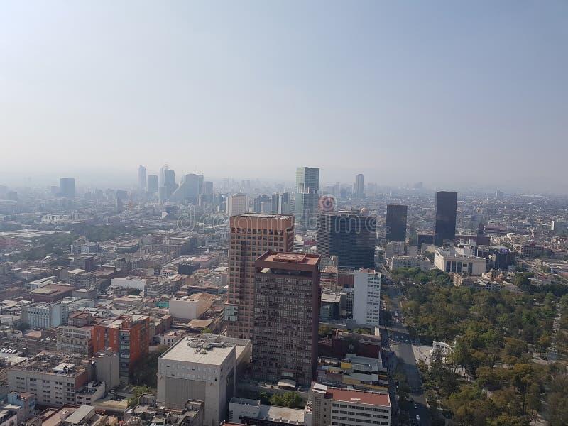 luchtmening van de stad van Mexico stock foto's