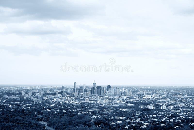 Luchtmening van de Stad van Brisbane royalty-vrije stock fotografie