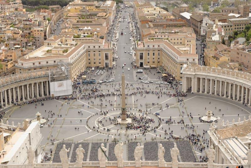 Luchtmening van de Stad van Vatikaan, Italië stock foto's