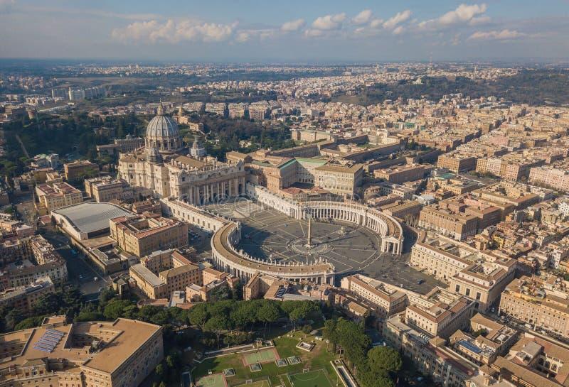 Luchtmening van de stad van Vatikaan royalty-vrije stock afbeeldingen