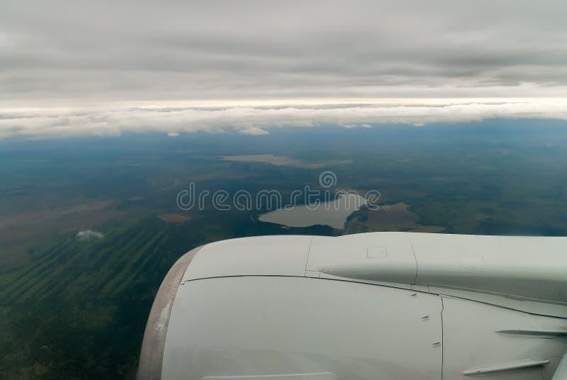Luchtmening van de zomergebied stock afbeeldingen