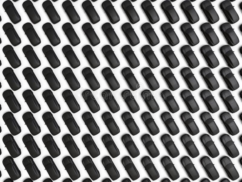 Luchtmening van een overvol autoparkeren vector illustratie