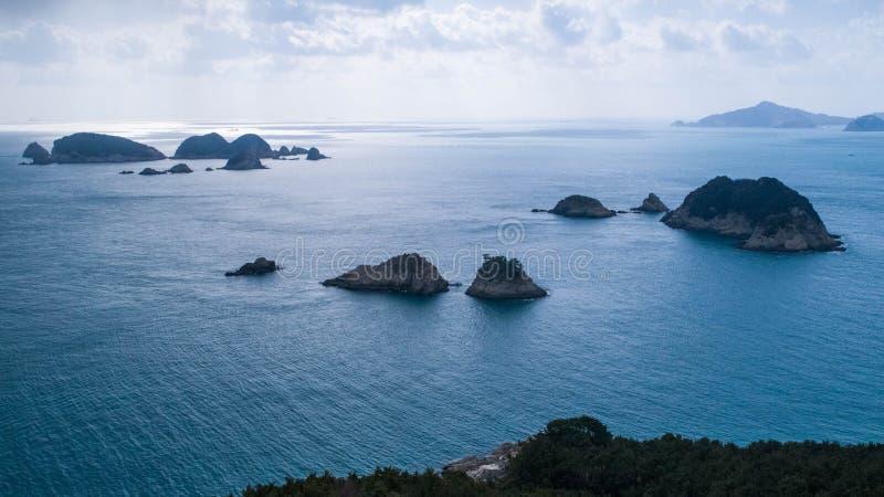 Luchtmening van eilanden en overzees royalty-vrije stock afbeeldingen