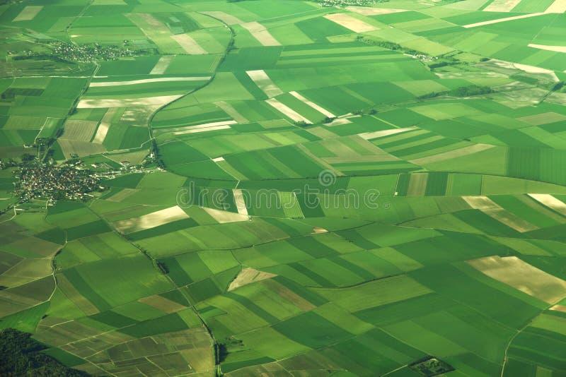 Luchtmening van gebieden in Frankrijk royalty-vrije stock afbeelding