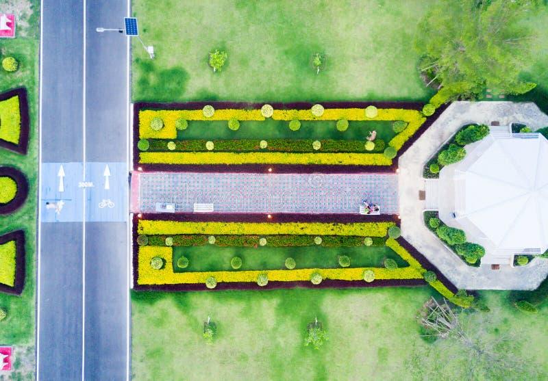Luchtmening van gezondheidspark en renbaan royalty-vrije stock foto