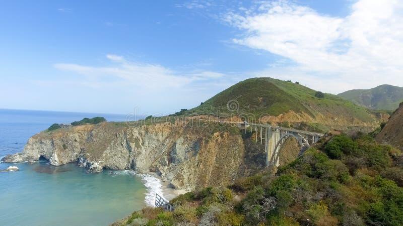 Luchtmening van Grote Sur-kustlijn, Californië royalty-vrije stock foto