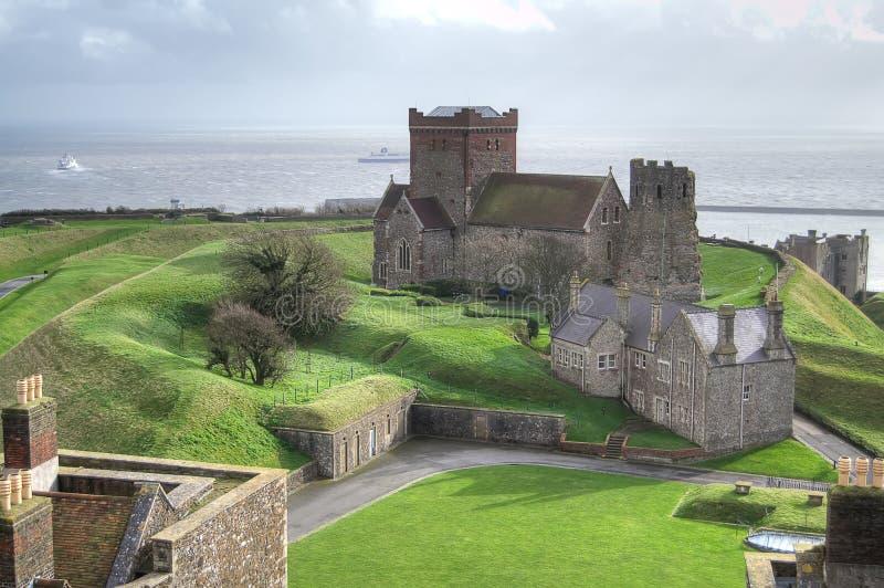Luchtmening van het kasteel van Dover royalty-vrije stock foto