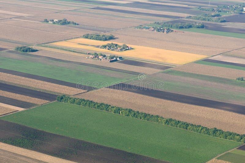 Luchtmening van Hongaarse fileds royalty-vrije stock afbeelding