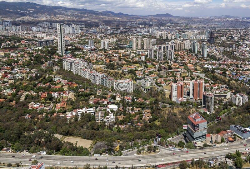 Luchtmening van interlomas in Mexico-City royalty-vrije stock afbeeldingen