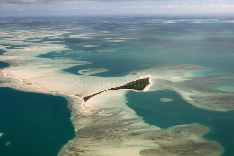 Luchtmening van Kerstmis & x28; Kiritimati& x29; Eilandlagune, Kiribati royalty-vrije stock foto's