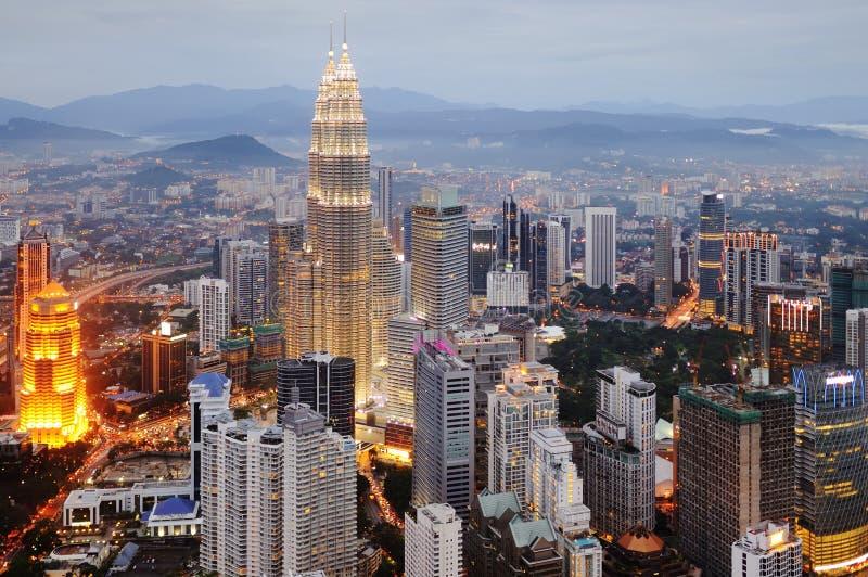 Luchtmening van Kuala Lumpur stock fotografie