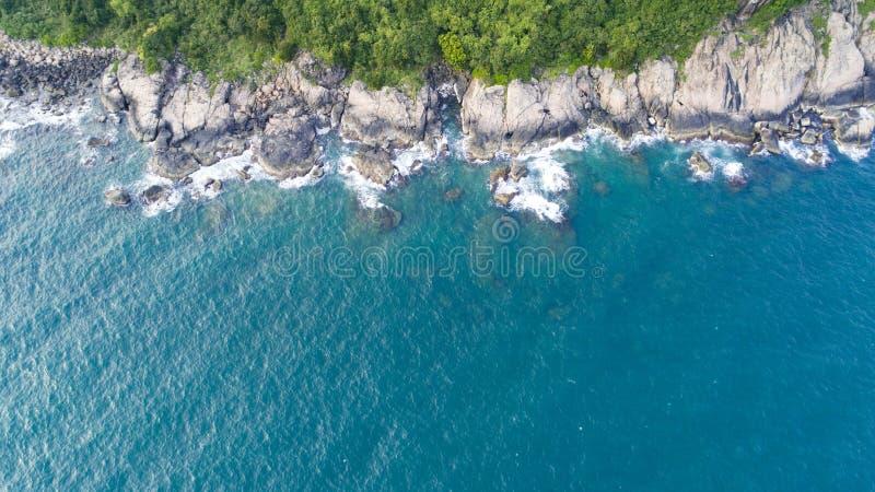 Luchtmening van kustlijn van Vietnam stock afbeeldingen