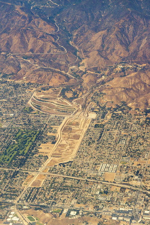 Luchtmening van Los Angeles in de Verenigde Staten stock foto's