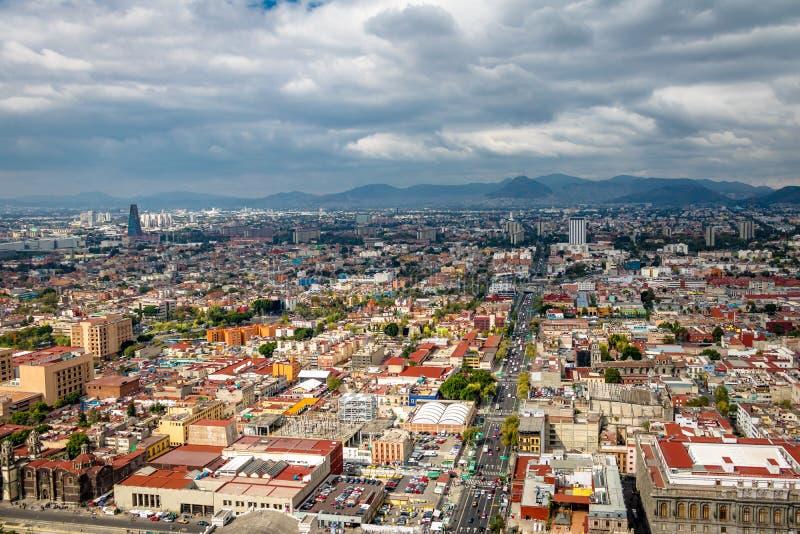 Luchtmening van Mexico-City - Mexico stock afbeeldingen