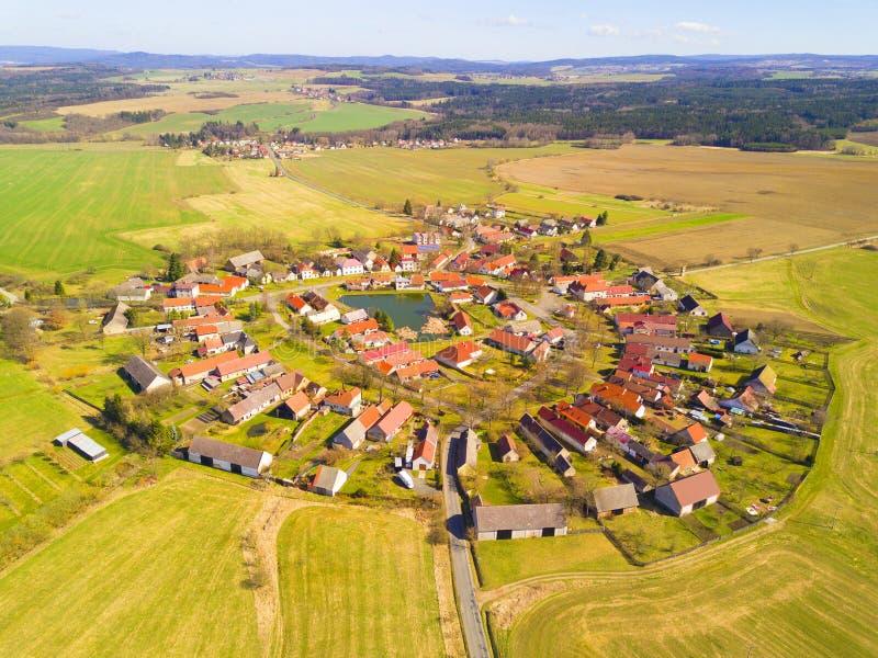 Luchtmening van mooi dorp royalty-vrije stock foto