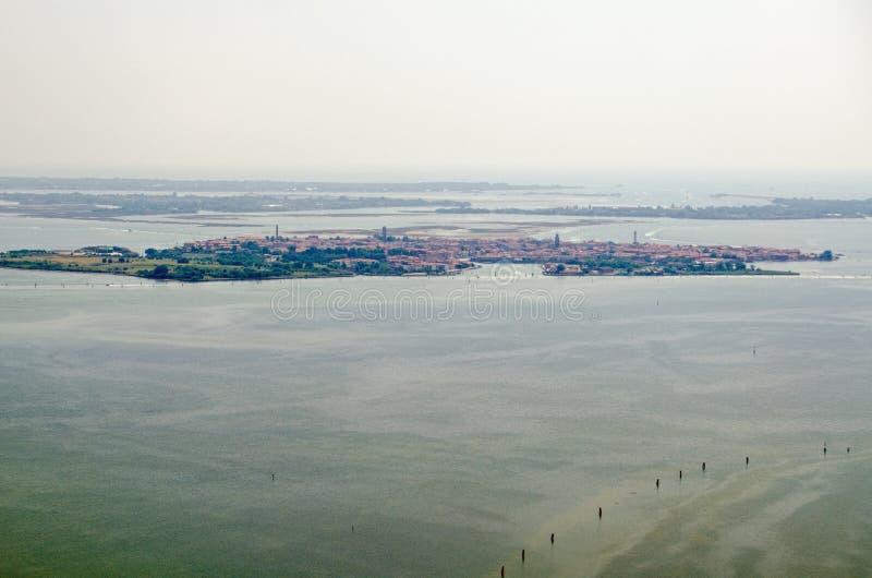 Luchtmening van Murano, Venetië stock afbeeldingen