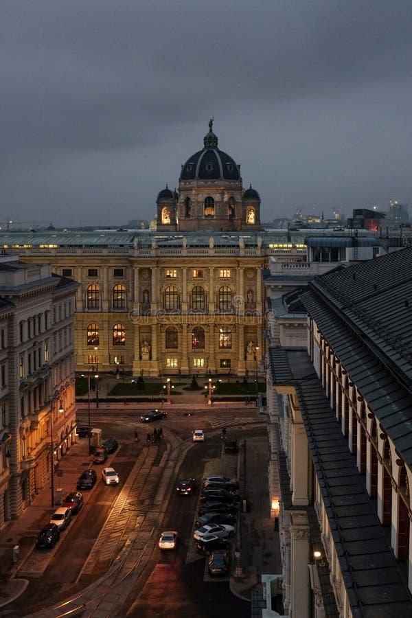 Luchtmening van Museum van Natuurwetenschappen, Wenen stock afbeelding