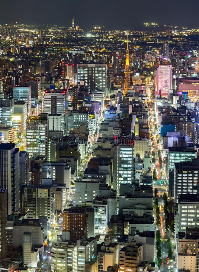 Luchtmening van Nagoya stock foto's