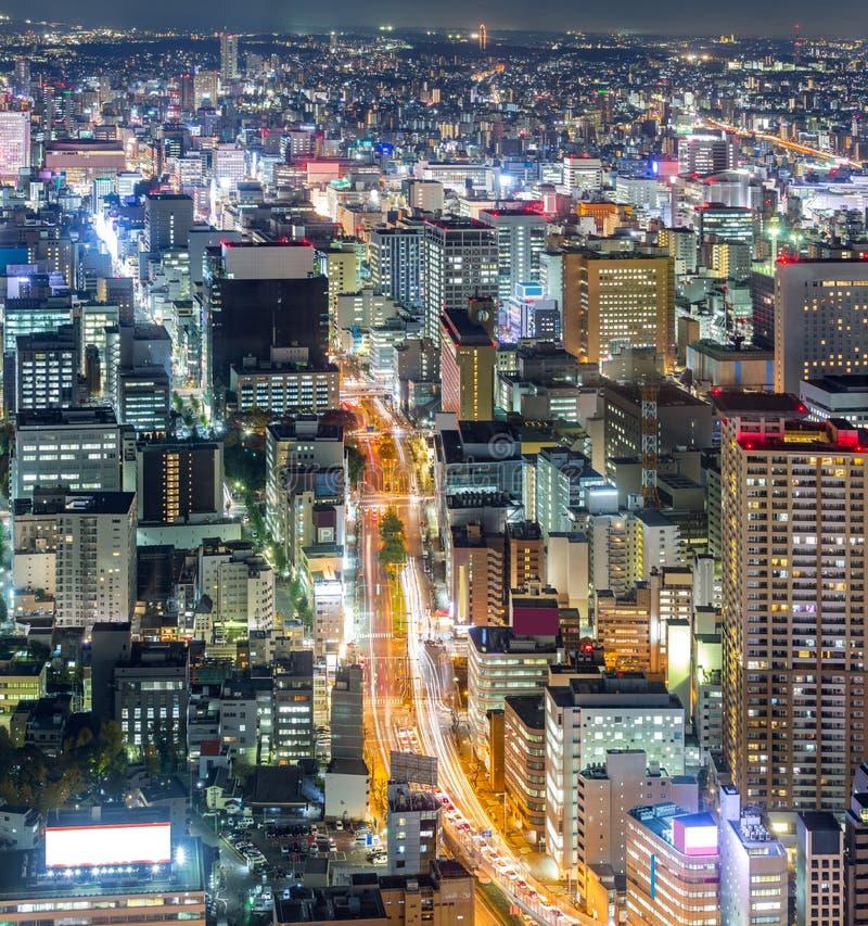 Luchtmening van Nagoya royalty-vrije stock fotografie