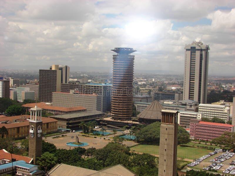 Luchtmening van Nairobi Kenia stock foto's