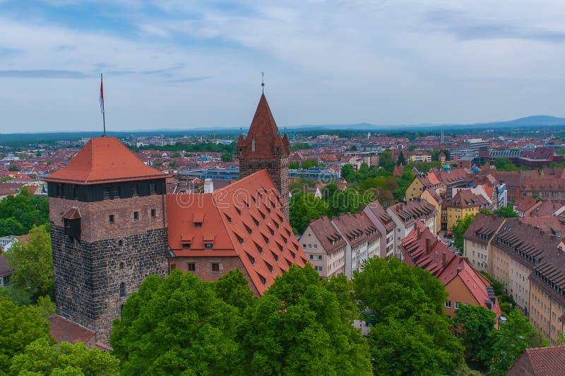 Luchtmening van Nuremberg royalty-vrije stock afbeelding